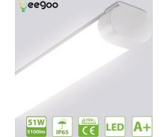 LED Feuchtraumleuchte 150CM, Deckenleuchte led 51W 5100LM (100LM/W), IP65 Wasserdicht Wannenleuchte