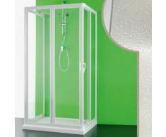 3 seitige Acryl Duschkabine 70x90x70 CM Venere mit zentraler Öffnung.