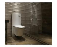 Sanitärmodul für Wand-WC (Weißglas)