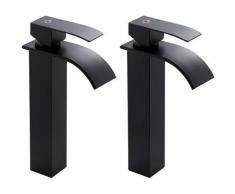 Auralum Wasserhahnn Bad Design verlängerte Einhebel | Waschtischarmatur Armatur Wasserfall |