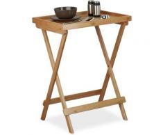 Tabletttisch Bambus H x B x T: ca. 66 x 50 x 38,5 cm Beistelltisch mit Tablett für Frühstück,