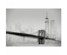 Papier Fototapete New York Art Illustration schwarz und weiß 368x254cm