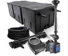 Wiltec - SunSun 3-Kammer Filter Set 90000l 36W UVC Teich Klärer NEO10000 80W Pumpe Schlauch