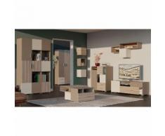 Jugendzimmer Komplett - Set B Roland, 11-teilig, Farbe: Braun, teilmassiv