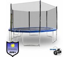 Trampolin 460 Outdoor Gartentrampolin Komplettset 4,60 m 460 cm Modell 2019 mit extra verstärkten