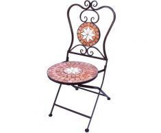 Stuhl Mosaik Merano 12002 Gartenstuhl H-93 cm Metall Gartenmöbel Klappstuhl
