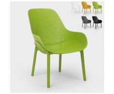 Moderne Designstühle für Küche und Bar aus Polypropylen Majestic | Dunkel Grün