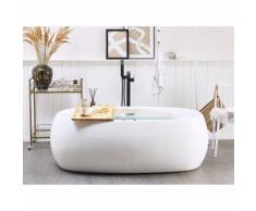 Beliani - Whirlpool Badewanne Weiß Acryl Freistehend Wasser Jets Luxus Stil Badezimmer