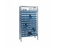 Steckregal H2000xB1000xT400mm Grundregal 14 Stahlböden 90 x 3,15 x 4 blau