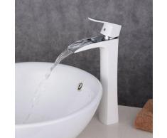 Armatur Wasserfall extrahoch, für Waschbecken, Bad, modernes Design, aus Messing