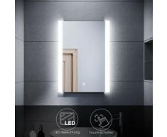 SONNI LED Badspiegel mit Beleuchtung Bad Wandspiegel Badezimmerspiegel 50x70cm Touch