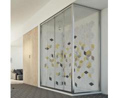Young Duo 2 Türen Duschkabine 180x75 CM H198 ESG-Klarglas