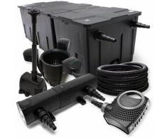 FilterSet: Bio Teichfilter bis 90000l UV Klärer mit 24W 80W Pumpe Skimmer und Springbrunnenpumpe