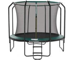 Trampolin 366 cm, rundes Gartentrampolin mit Sicherheitsnetz und Leiter, gepolstertes Gestell, für