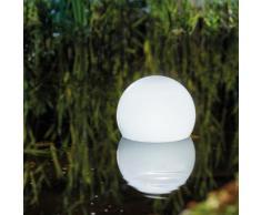 Solar Schwimmkugel + Fernbedienung 7 Lichtfarben Leuchtkugel Gartenteich 102620