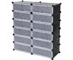 6 Ebenen Kunststoff Schuhregal Schuhablage Aufbewahrung Steckregal Schrank Badregal Regalsystem
