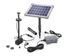 Solar Teichpumpe 5W mit Akku und LED Gartenteich Wasserspiel Teich esotec 101920