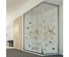 Young Duo 2 Türen Duschkabine 170x90 CM H198 ESG-Strukturglas