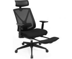 Songmics - Ergonomischer Bürostuhl mit Fußstütze, Schreibtischstuhl mit Lordosenstütze,