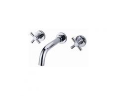 Waschtisch-Armatur zur Wandmontage, modernes Design, verchromt