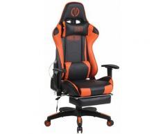CLP - Bürostuhl Turbo XFM Kunstleder mit Massagefunktion-schwarz/orange