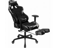 Songmics - Gaming Stuhl mit Fußstütze, 150 kg, Bürostuhl, Schreibtischstuhl, Lendenkissen,