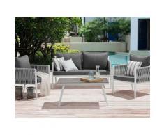 Gartenmöbel Set für 4 Personen grau LATINA