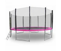 Gartentrampolin Trampolin 490cm Modell 2019 Randabdeckung Pink
