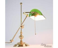 Licht-erlebnisse - Bankerlampe aus Echt-Messing Vergoldet 24 Karat