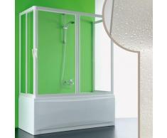 3 seitiger Acryl Badewannenaufsatz 80x160x80CM Nettuno mit zentraler Öffnung
