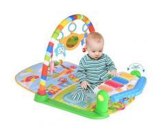Spielmatte für Babys,Baby Spieldecke Babybett Musik-Activity Gym Spielzeug,Krabbeldecken 84x65x45cm