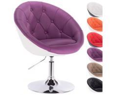 Woltu - Barsessel Loungesessel mit Lehne zweifarbig Violett+weiß