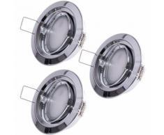 3er Set LED Einbauleuchten, dimmbar, beweglich, Coin Slim