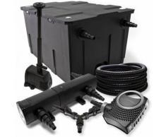SunSun Filter Set 60000l Teich 36W Teichklärer NEO10000 80W Pumpe 25m Schlauch Springbrunnen