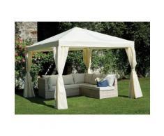 Pavillon Quadratischer 3x3 m mit weißer epoxy-Eisenstruktur | Ecru
