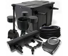 Filter Set 12000l Teich 24W Teichklärer NEO8000 70W Pumpe 25m Schlauch Skimmer CSP250 Springbrunnen