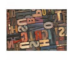 Papier Fototapete Vintage Briefe 368x254cm