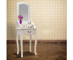 Grafner Schminktisch mit Spiegel aus Holz in weiß Frisierkommode Kosmetiktisch
