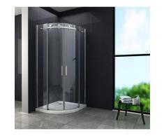 Duschkabine BARARO 100 x 100 x 195 cm (Viertelkreis) ohne Duschtasse