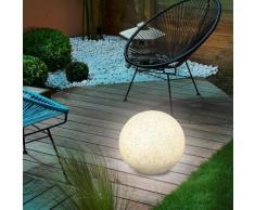 Solar Leuchtkugel 50cm Steinoptik Solarlampe Gartenleuchte granit, esotec 106022