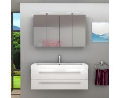 Badmöbel Set City 101 V1 Hochglanz weiß, Badezimmermöbel, Waschtisch 120 cm -16474- ohne