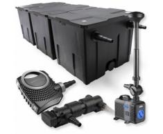 SunSun 3-Kammer Filter Set 90000l 24W UVC Teich Klärer NEO8000 70W Pumpe Springbrunnen