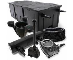 FilterSet: Bio Teichfilter bis 90000l, UV Klärer mit 24W, 80W Pumpe, Skimmer und Springbrunnenpumpe