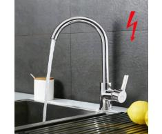 Niederdruck Küchenarmatur Wasserhahn Chrom Niederdruckarmatur Spültischarmatur Einhebelmischer