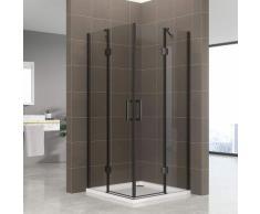 Duschkabine Celine mit Eckeinstieg Eckduschkabine aus durchsichtigem ESG Sicherheitsglas 180 cm