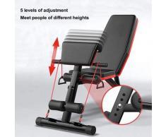 Hantelbänke klappbar Sit-ups Bank Fitnessbank Trainingsbank Sitzbank Bauchtrainer verstellbarer