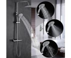Duscharmaturen Set Duschsystem regendusche Duschset mit Regenbrause, Handbrause und Brausearm,
