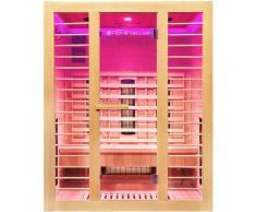 Infrarotsauna Redsun L Deluxe | Infrarotkabine Wärmekabine, Saunakabine, Sauna - Home Deluxe
