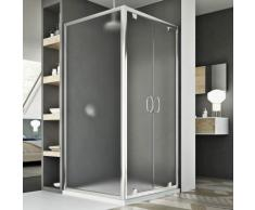 Sintesi Duo 2 Türen Duschkabine 80x75 ÖF. 80 CM H185 Strukturglas