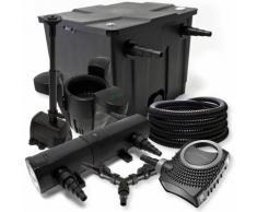 Filter Set 12000l Teich 18W Teichklärer NEO8000 70W Pumpe 25m Schlauch Skimmer SK30 Springbrunnen